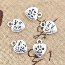 15 шт талисманы с принтом «сердце» «Любовь свою собаку 13x10