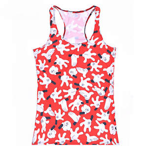 Tops Summer Sleeveless Blouses Vest Digital-Print Casual Women's Cartoon Ladies' Hand-Mouse