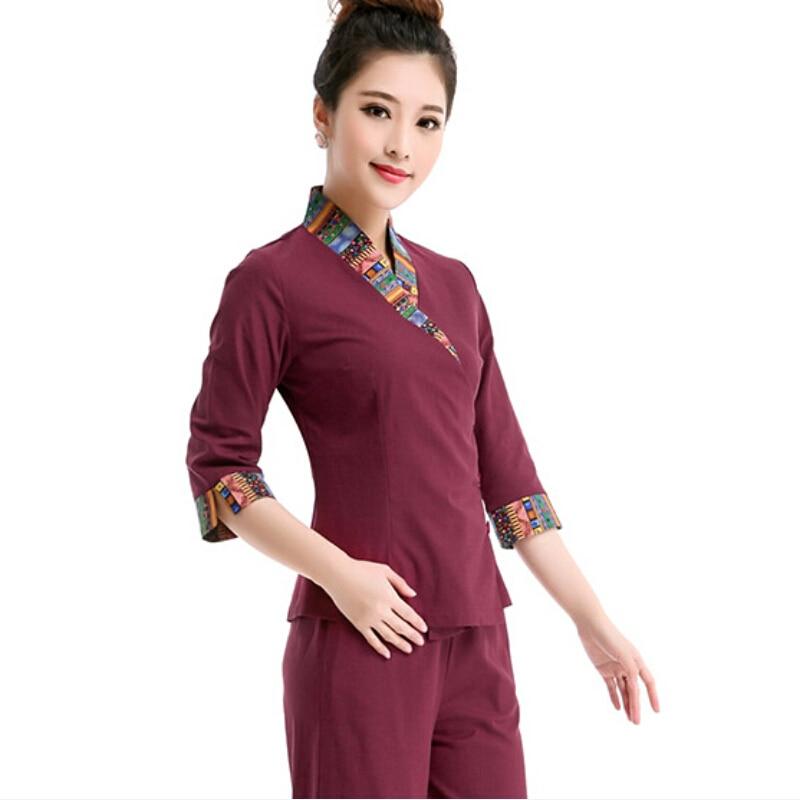 2016 summer women hospital medical scrub clothes set for Baju uniform spa