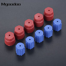 Mgoodoo 10Pcs Car A/C System Charging Port Service Cap R134a High Low Side Valve Adapter Dust Cap Red Blue Car Air Conditioning a new internet service provider billing system
