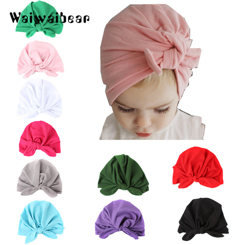 Hats & Caps Confident All Season Unisex Lovely Baby Boy Girl Cartoon Elastic Hats Turban Cap Cute Cotton Soft Infant Hair Accessories Hats 2019