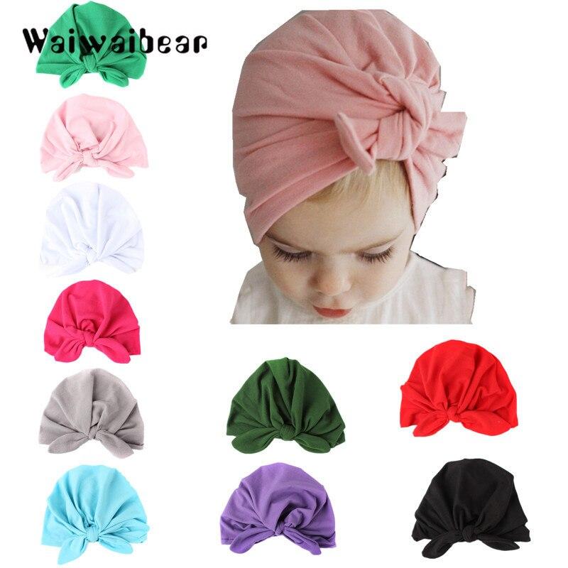 Hats & Caps Confident All Season Unisex Lovely Baby Boy Girl Cartoon Elastic Hats Turban Cap Cute Cotton Soft Infant Hair Accessories Hats 2019