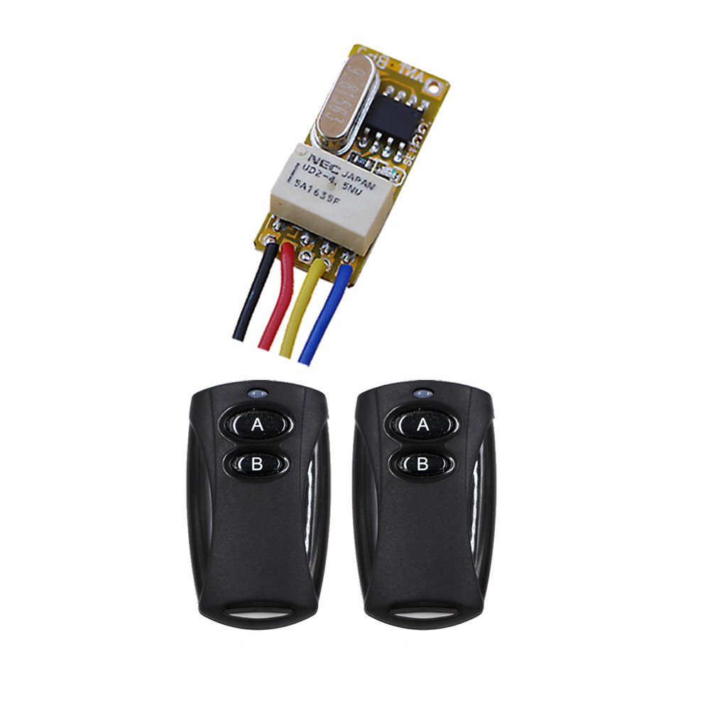 Mini Relay Remote Switch Door Open Button Remote Open Close Circuit Wireless Switch 3.7v 5v 6v 7.4v 9v 12v Micro Small Remote high sensitivity small remote relay switch dc 3 5v 12v mini receiver with transmitter normally open close wireless switch top