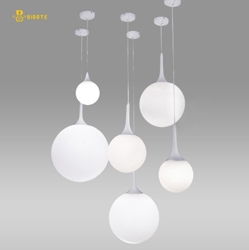 Modern Globe Glass Shade Pendant Lights For Dining Room Bar Restaurant Decorative with led bulb Hanging Pendant Lamp Fixtures modern minimalist art deco pendant lights ball glass shade globe led hanging lamp for living room bar home light fixtures gold