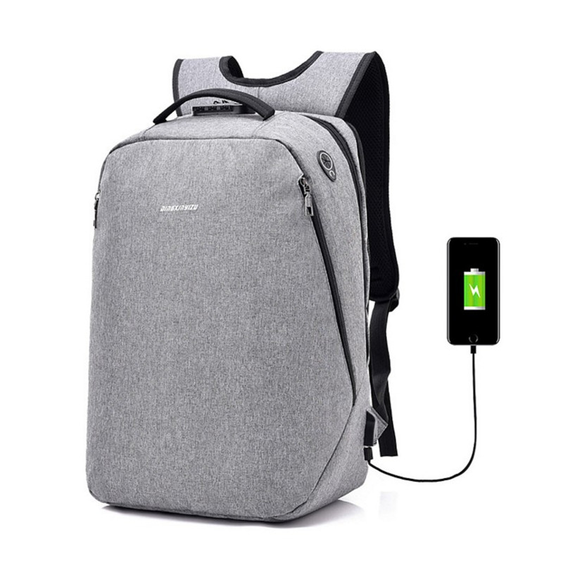 Men Multifunction USB charging Men 15 inch Laptop Backpacks For Teenager Fashion Male Le ...