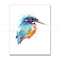 Abstract Artistic Paint Kingfishe Bird Oil Painting On Canvas Handmade Modern Wall Picture For Living Room Cuadros Decor