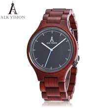 ALK wood watch 2017 fahsion quartz lovers watch natural wooden wristwatches male female casual pointer clock dropshipping
