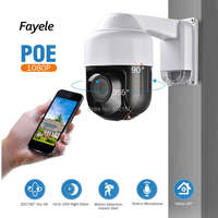 Fayele Security POE 1080P MINI PTZ Camera 4X Optical Zoom IR Cut Night Vision 60m Outdoor IP Speed Dome Camera ONVIF P2P Audio