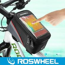 "De ROSWHEEL 4.2 ""4.8"" 5.5 ""1-1/1. 5L bolsas alforjas Bicicleta de la Bici MTB Frame Bolso Del Tubo Del Frente Para El Teléfono Celular bicicleta Bolsa de la Pantalla Táctil"