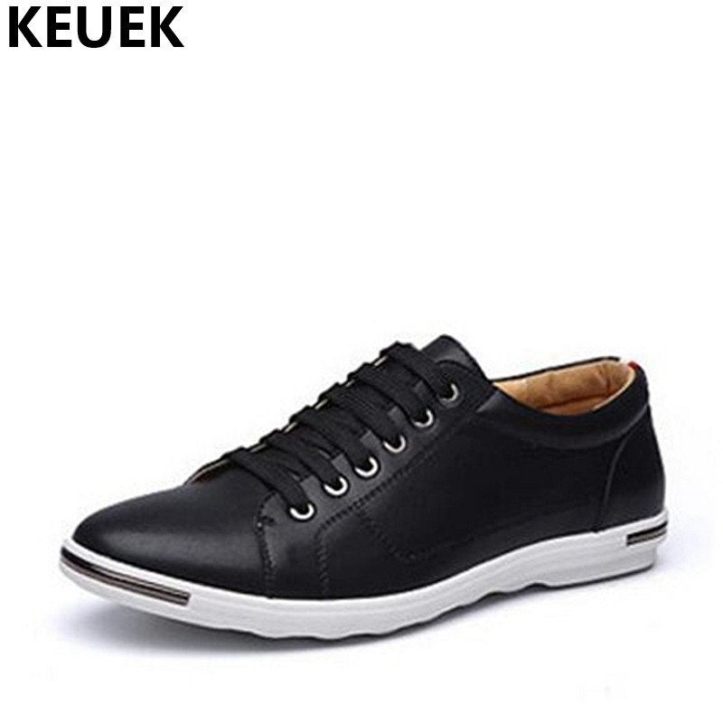 Spring Men Casual shoes Leather Oxford Shoes Soft Breathable Male Flats Lace-Up Loafers Plus Size Youth Popular Sneakers 01B spring autumn casual men s shoes fashion breathable white shoes men flat youth trendy sneakers