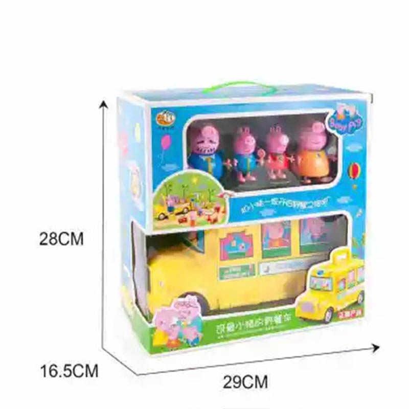 Peppa pig Brinquedos Hobbies Toy Figuras de Ação brinquedos festivo pec um piquenique das crianças carro de brinquedo para crianças