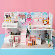 Doll House Furniture DIY Miniature 3D Model Doll Houses Wooden Miniature Dollhouse Assembly Toys for Children Beautiful Diary handicraft toy diy wooden doll house castle building blocks children handcraft miniature projec kit manual assembly 3d model
