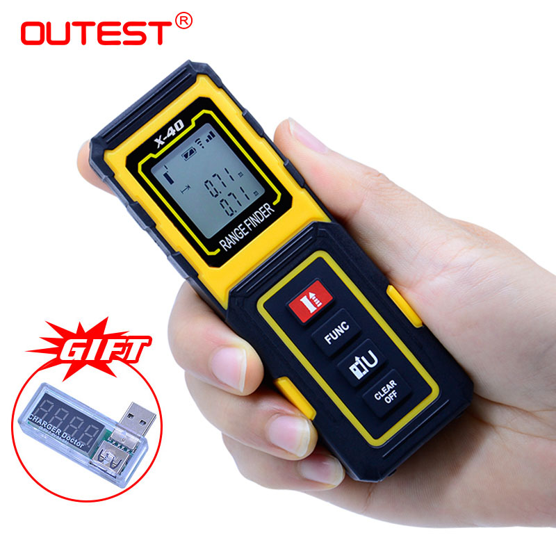 Outest mini laser rangefinder medidor de distância a laser 40 m/30 m metro medidor laser ferramenta réguas construir dispositivo medida