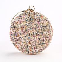 Evening Clutches Wallet Purse Wedding-Bag Handmade Female Women Fashion Lady Colorful