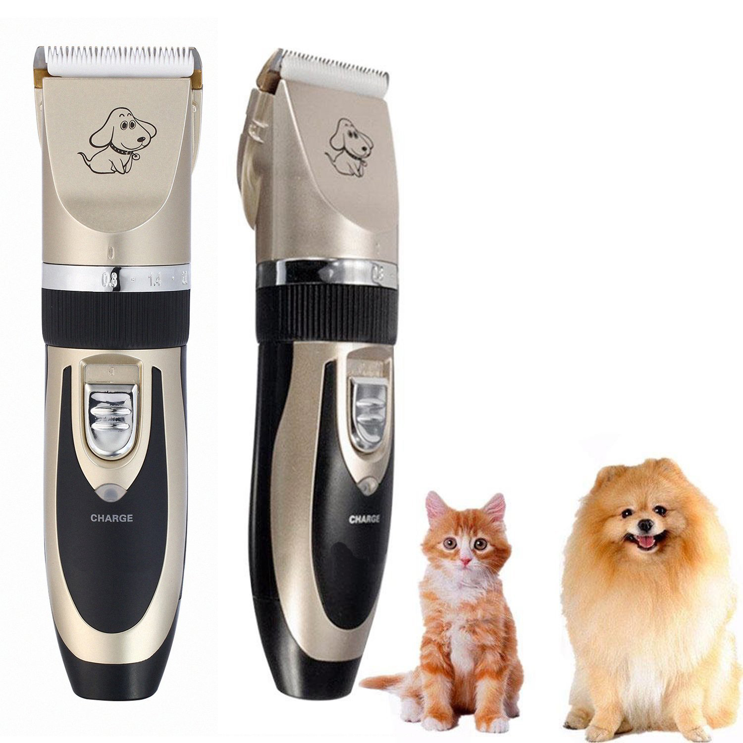 Dogs' and Cats' Rechargeable Electric Pet Shaver, Low Noise trizchlor flush for dogs and cats 4 oz