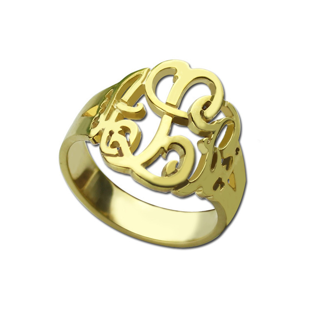 personalized name color rings item women gold initial script on accessories out monogram hand ring memorial cut nameplate jewelry for from plate in