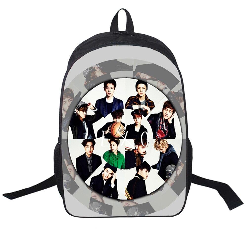 New Women Bags Japan And Korean Exo Printing Backpack Students School Bag For Teenage Girls Boys Backpacks Rucksack Mochila