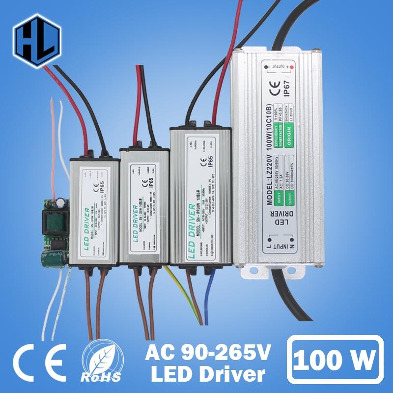 10W-100W 10Series2 10Series3 10Series5 10Series10 Parallel Waterproof LED Light Driver Lamp Transformer Power Supply Adapter