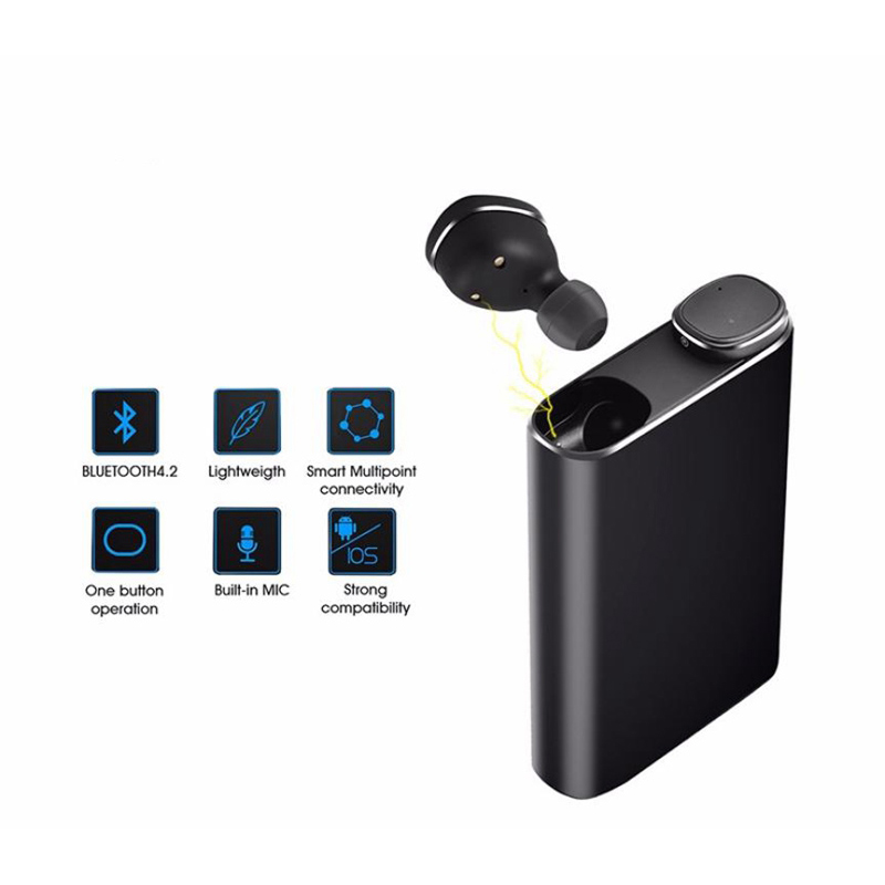 IPX5 waterproof Wireless Bluetooth TWS Earphone In Ear Earbuds Set Stereo for iphone X 6 7 8 Samsung Xiaomi with charging box