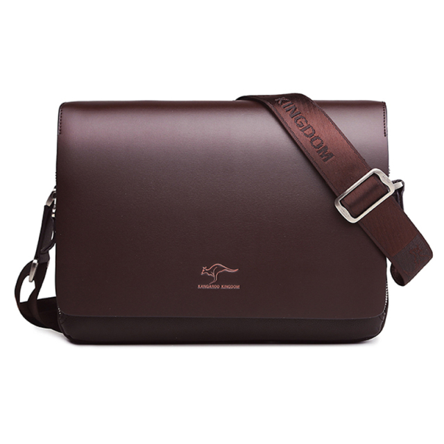 Kangaroo Luxury Brand Men's Messenger Bag Vintage Leather Shoulder Bag 4