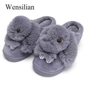 Winter Home Fluffy Slippers Wo
