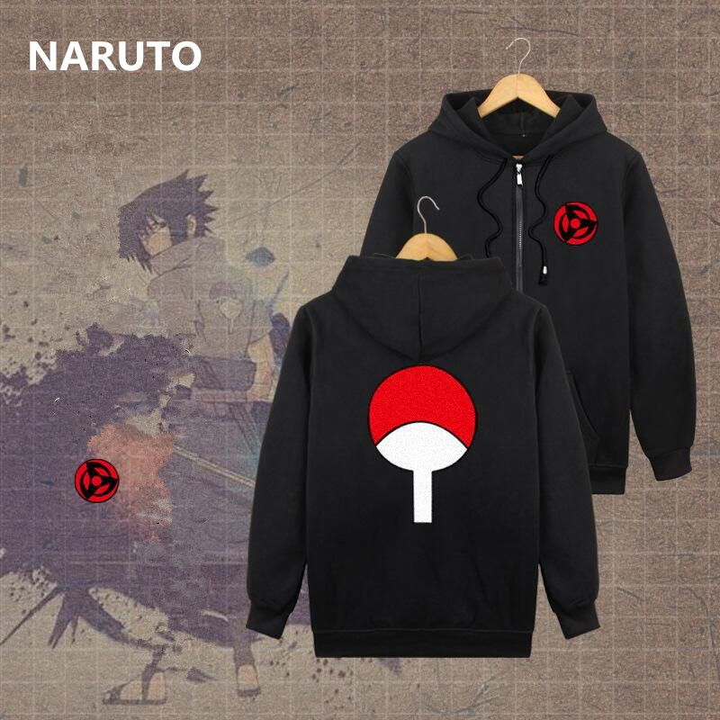 Anime NARUTO Uchiha Itachi Sharingan Cosplay Costume Uchiha Sasuke Women Men Cotton Hoodies Pullover Thicken Sweatshirts New Top