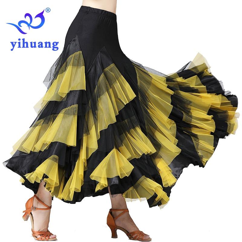 Fashion Dance Performance Skirt For Ballroom Dance Skirt Tango Waltz Modern Standard Foxtrot Quickstep Dancewear Costumes