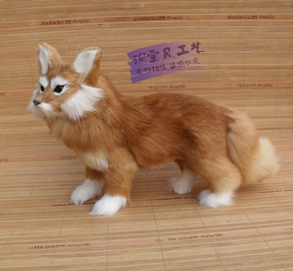 new simulation yellow fox toy polyethylene & furs standing fox doll gift about 35x22cm 2070 stuffed animal 44 cm plush standing cow toy simulation dairy cattle doll great gift w501