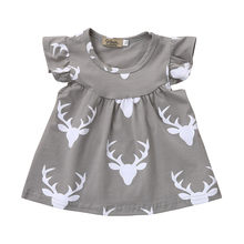 Dress Elegant Infant Baby Boys Girls Letter Romper+DeerPants Hat 3pcs Clothes Baby Girl Clothes Frocks#A2(China)