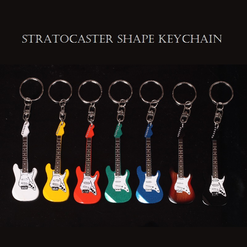 Guitar Wooden Key chain Mini Miniature Guitar Keychain in Different Shapes, Flying V Guitar Shape, ST Shape, LP Guitar Shape