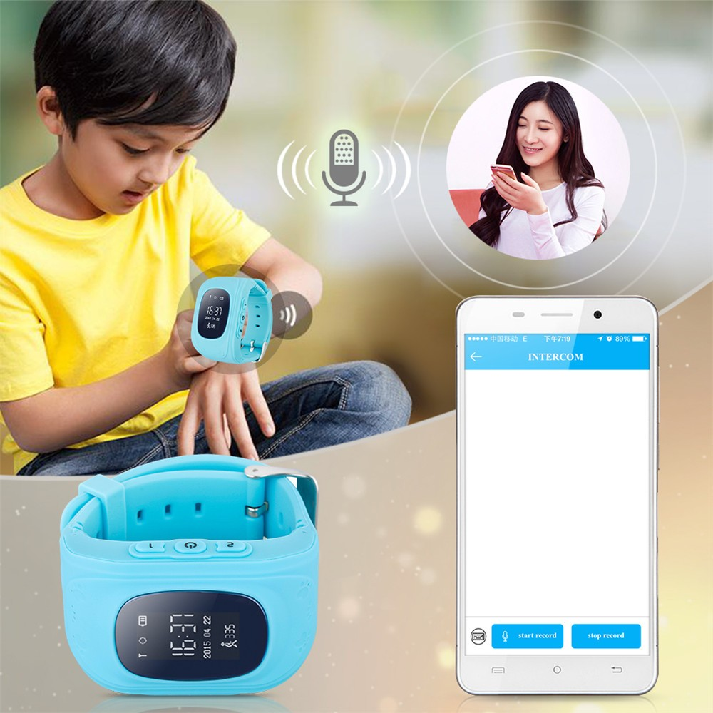 2016 Smart Kid Safe GPS Watch Wristwatch SOS Call Location Finder Locator Tracker for Kid Child Anti Lost Monitor Baby Gift Q5031