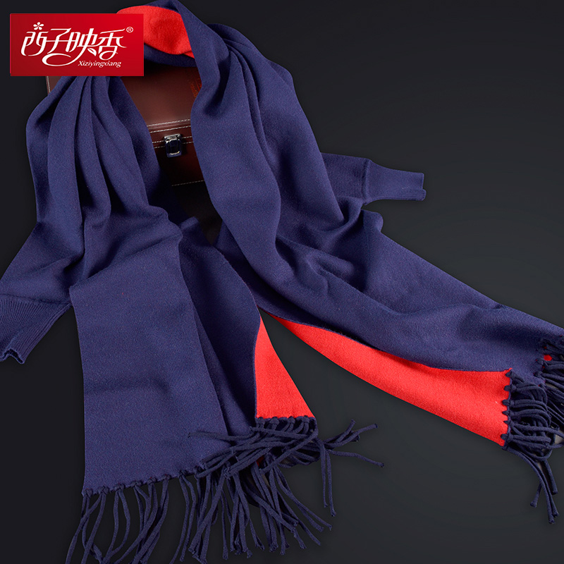 Fashion Design Women Scarf Stoles With Sleeves Pure Color Winter Scarf Wool Cashmere Pashmina Cape 2017Thick Stole Winter-Poncho