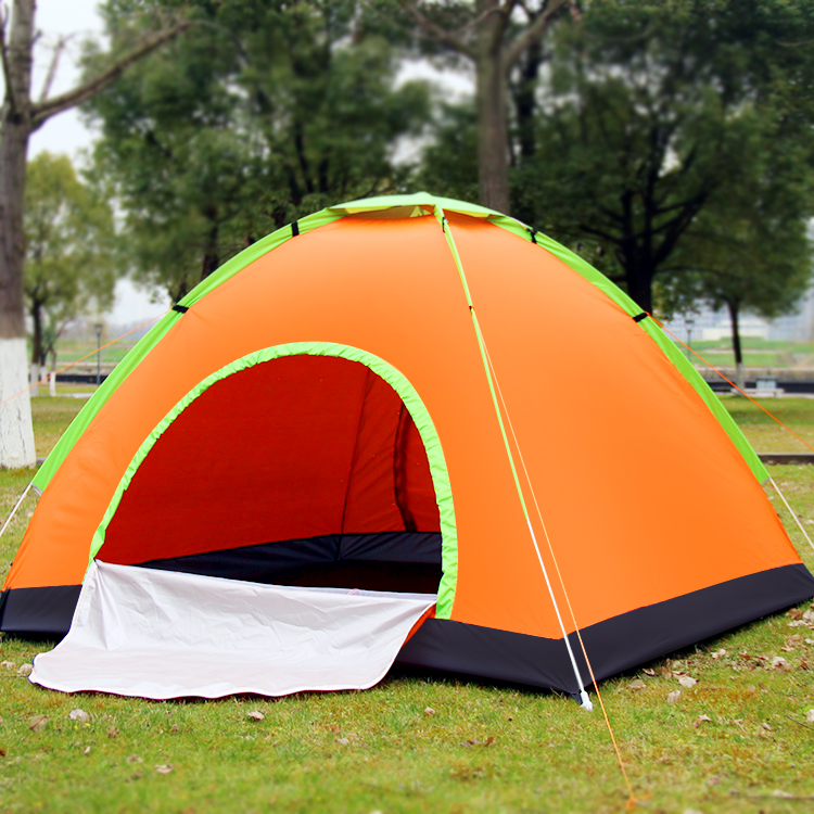 ФОТО 2 Person Portalbe Quick Automatic Opening Outdoor one bedroom nylon Hiking Waterproof Sunscreen Mosquito Tent
