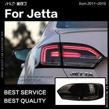 АКД стайлинга автомобилей для VW Jetta задние фонари 2011-2015 Jetta MK6 светодиодный задний фонарь светодиодный DRL Dynami сигнала тормозной обратного авто Интимные аксессуары