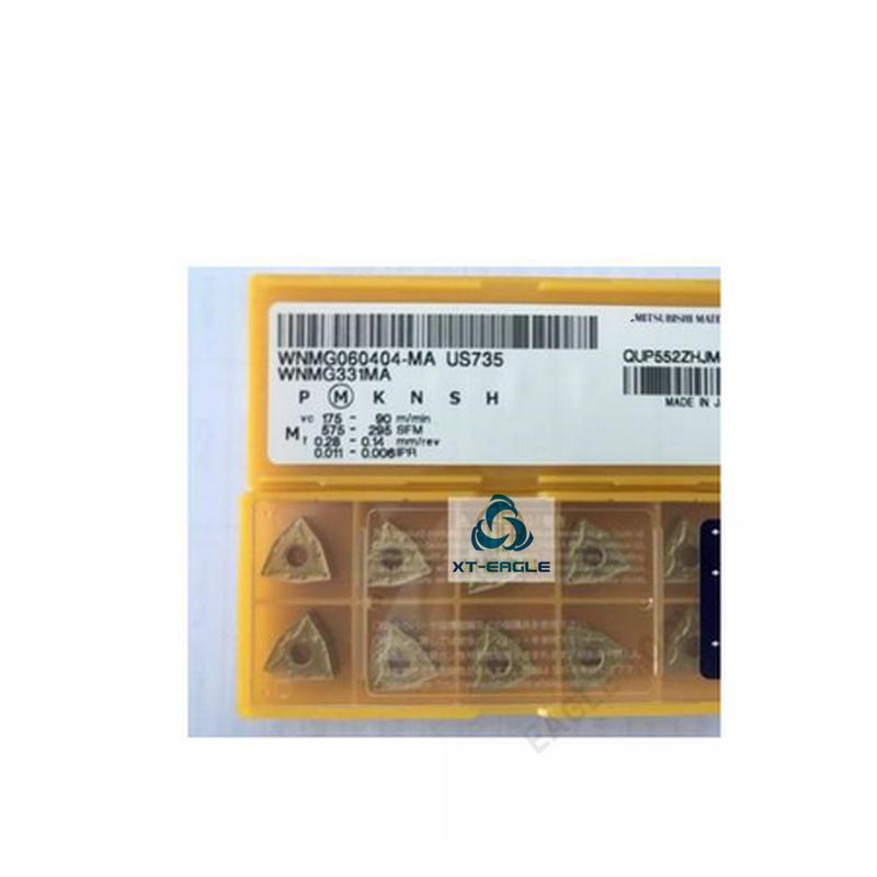 WNMG060404 MA US735 WNMG060408 MA US735 Free shipping 100 Original brand CNC blade