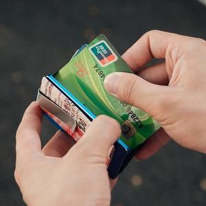 Image 5 - NewBring ผู้ถือบัตรเครดิตโลหะ RFID การปิดกั้นกระเป๋าสตางค์ Integration DESIGN หญิงและชายกระเป๋าเงิน EDC