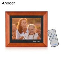 Andoer 8 Inch Large Screen LED Digital Photo Frame Desktop Album 1280 * 800 HD  Supports Remote Control Music/ Video/ Calendar