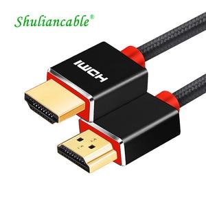 Image 1 - SL HDMI câble 2.0 3D HDR 4K 60Hz pour commutateur de répartiteur PS4 LED TV xbox projecteur ordinateur câble hdmi 1m 2m 3m 5m 10m 15m 20m