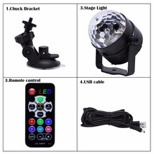 Colorful LED Stage Lighting Mobile USB Music Light Club Disco DJ Crystal Portable Magic Ball Effect Lights