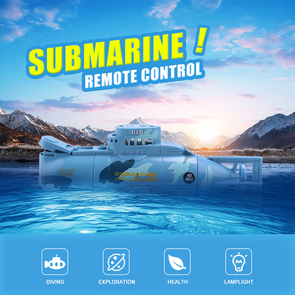 Submarine Tourism Series Radio Control Racing Propeller Rubber System Novel Creative Toy with USB Charger Gift for Kids Children 777 219 rechargeable 1 channel radio control r c submarine toy green