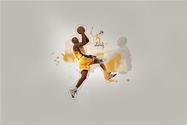 Decorative Kobe Bryant Posters LA Lakers Stickers Custom