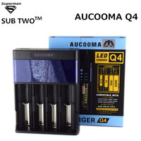 E Cigarette USB Charger AUCOOMA Q4 LCD Intelligent For AA AAA Ni MH Ni Cd 18650