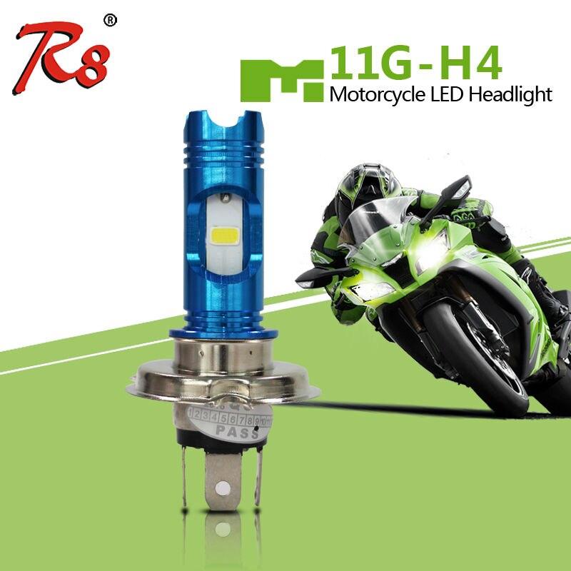 RTD Motorcycle LED Headlight Bulb M11G H4 Hi/Lo COB 6500K Light HS1 H6-3 Motorbike Head Lamp Wireless with Blue DRL Function