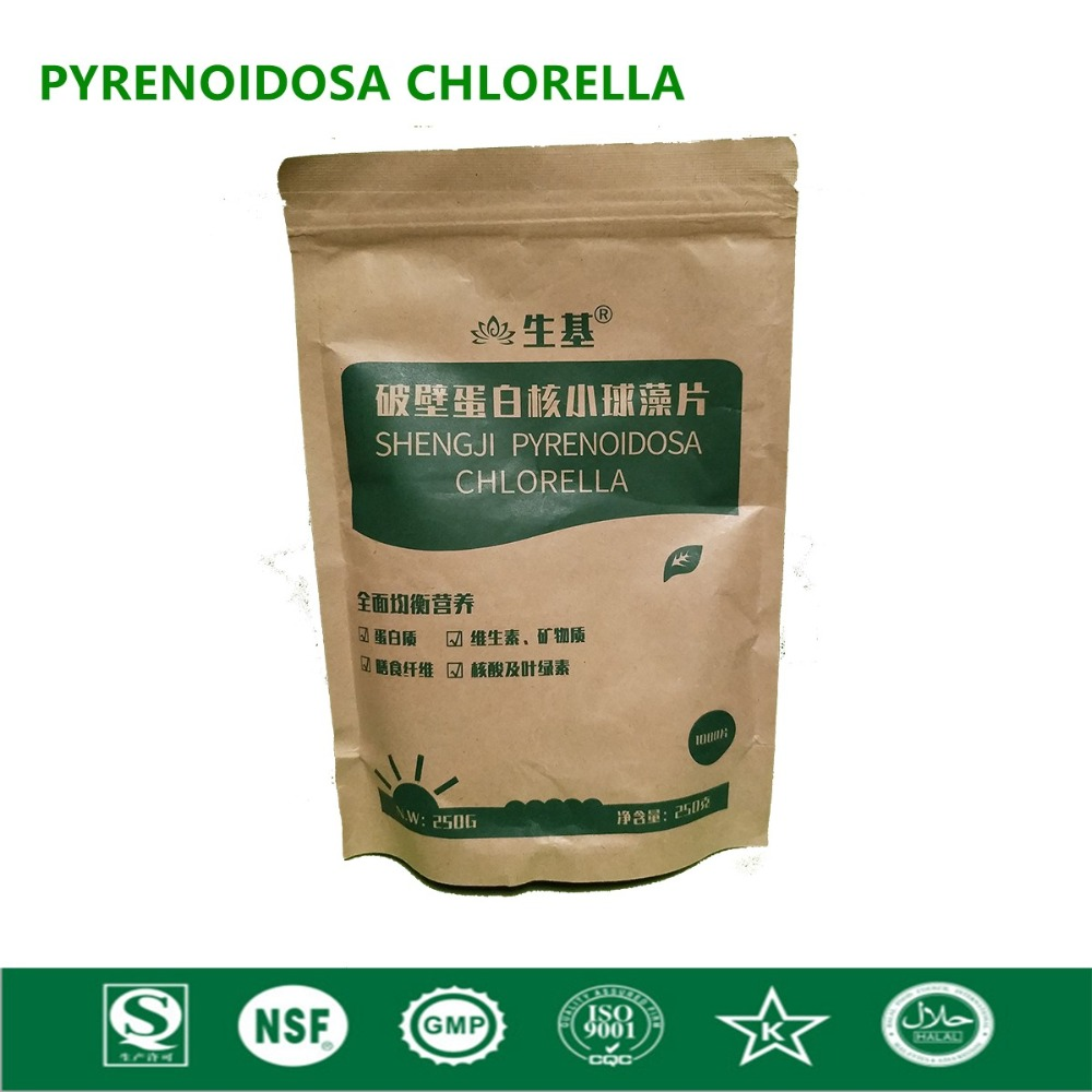Organic Chlorella Vulgaris Chlorella Pyrenoidosa Tablet Broken High Quality Rich of Chlorophyll,Protein light dependent chlorophyll biosynthesis