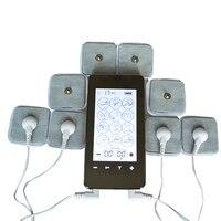 Сенсорный экран умный Массажер электронный для похудения Иглоукалывание Цифровая терапия машина с 8 шт. гель электродные накладки 4*4 см
