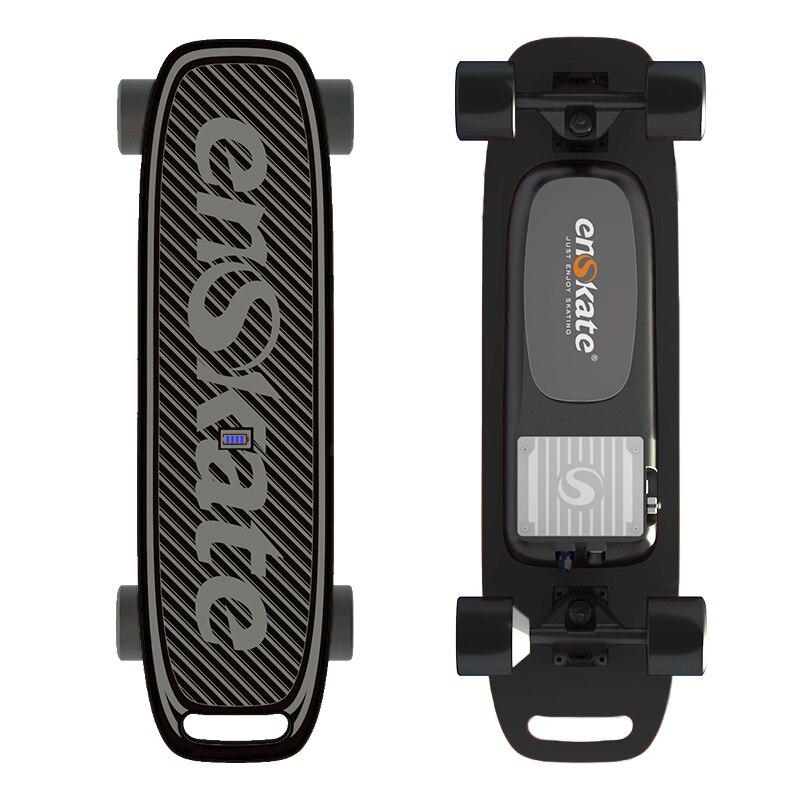EnSkate WoBoard Mini Skateboard électrique Longboard Scooter Smart Planche À Roulettes télécommande Samsung Batterie 4 Niveaux Vitesse Noir