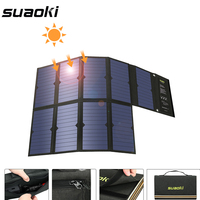 Лидер продаж Suaoki 60 Вт панели солнечные 5 В в USB и 18 В DC выход портативный складной Дополнительный внешний аккумулятор Солнечное зарядное устр