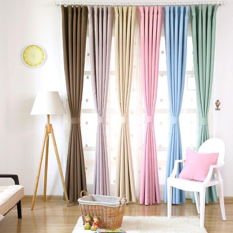 blackout drapes curtains for living room solid window treatments modern rideau custom cortinas soundproof stoff