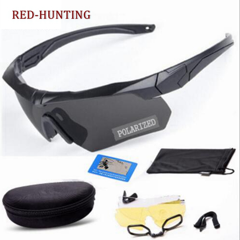 Army goggles Protection Military glasses paintball shooting goggles Tactical Polarized men sunglasses|Hiking Eyewears|Sports & Entertainment - title=