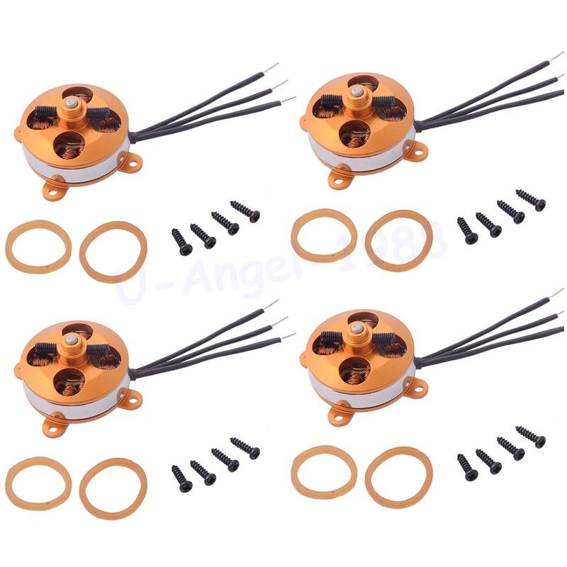 4 unids/lote A2204 1400KV/1450KV/1600KV 2 S 3 s Outrunner Micro Motor sin escobillas para RC Multicopter al por mayor